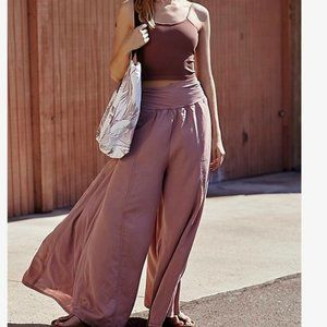 Free People Movement Pink Wide Leg Pants Med & Lg